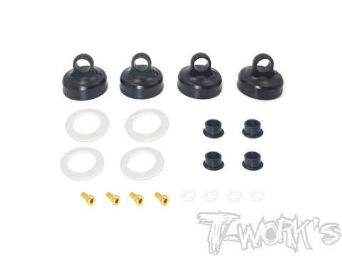 TO-273-A Black Hard Coated 7075-T6 Alum Aeration Shock Cap (  For Team Associated RC8 B3.1 )
