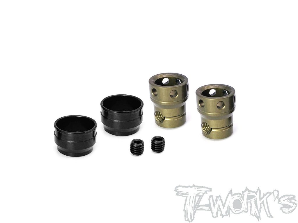 TO-301-K Hard Coated Alum. Joint Cups ( For Kyosho MP10 only use for T-Work's Center CVD )2pcs