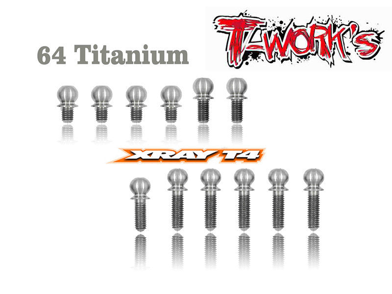TP-012 64 Titanium 4.9mm Ball End  set ( For Xray T4 )