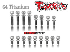 TP-032 64 Titanium Ball End set  For VBC D07
