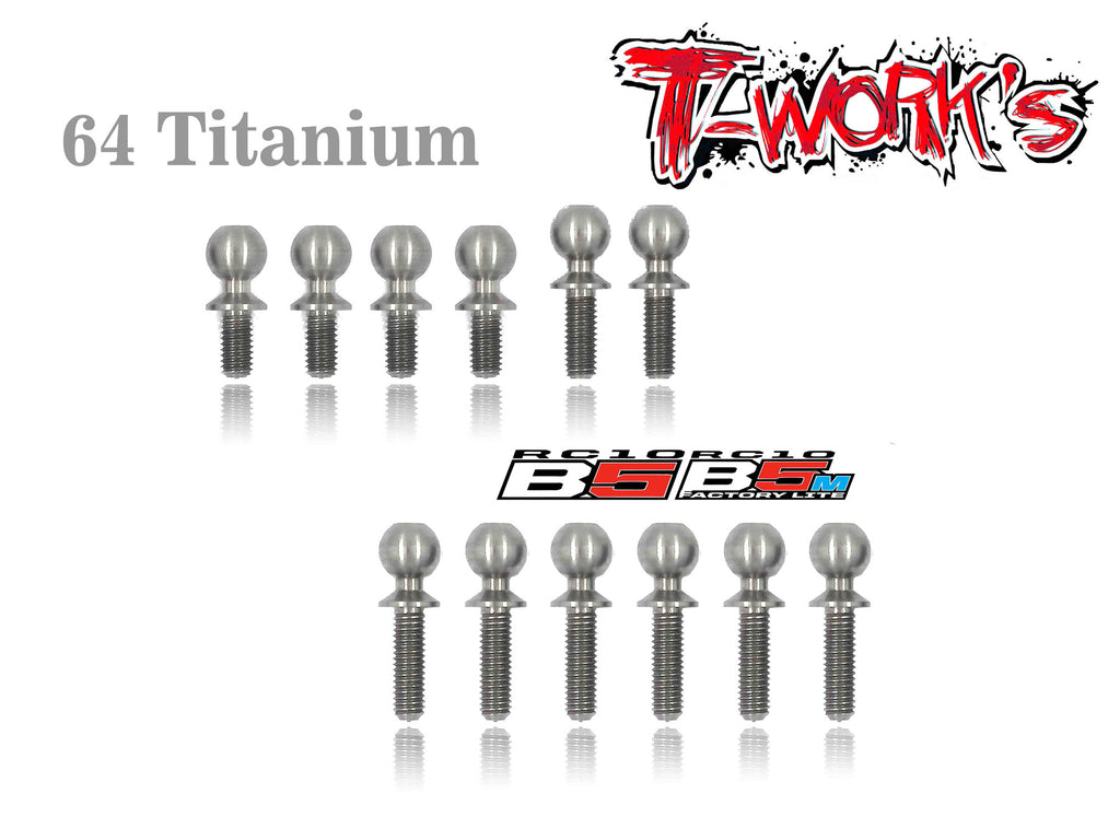 TP-033 64 Titanium Ball End set For Team Associated RC10 B5/B5M