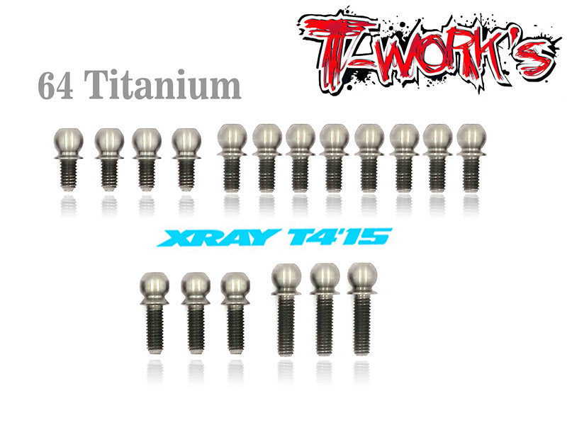 TP-037 64 Titanium 4.9mm Ball End  set ( For Xray T4'15/16/17 )