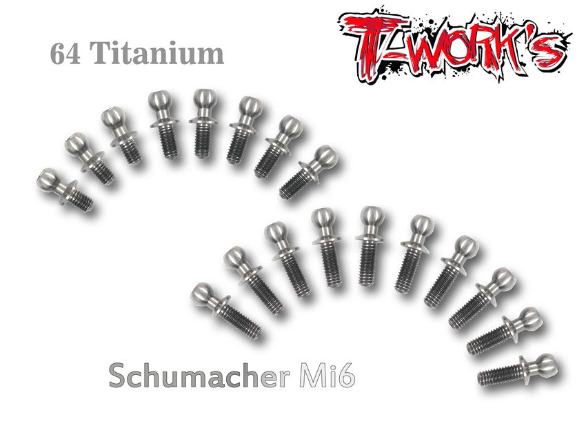 TP-048  64 Titanium Ball End set For Schumacher Mi6
