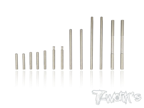 TP-053 64 Titanium Hinge Pin Set ( For Mugen MRX-6/6R )