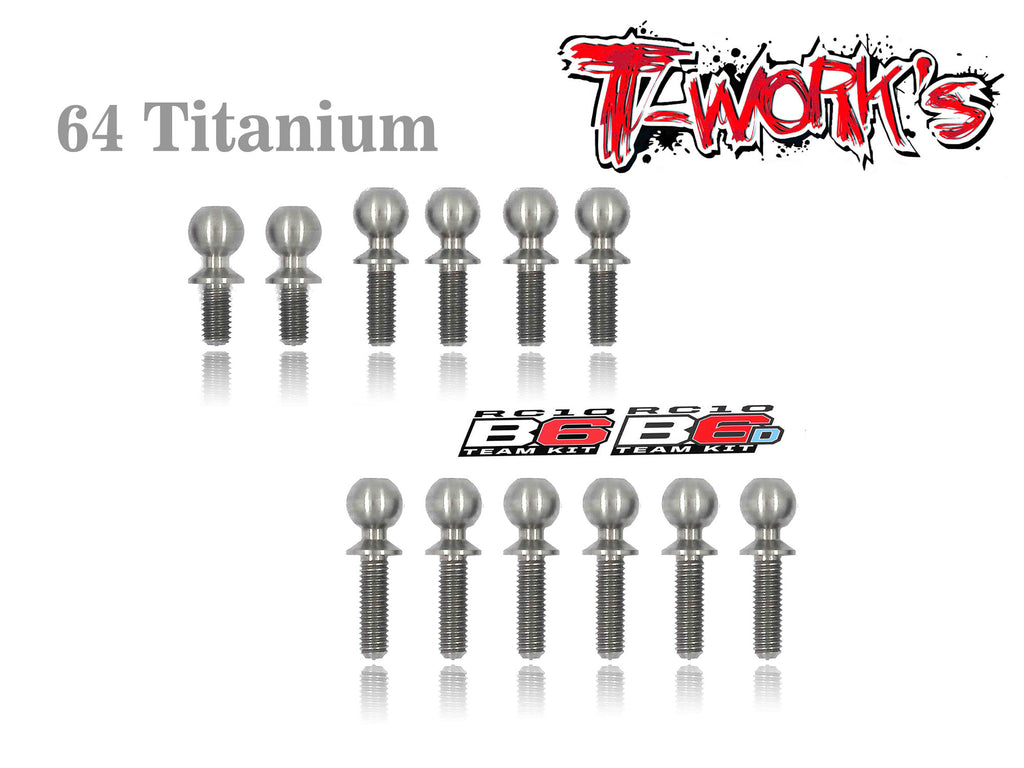 TP-064 64 Titanium Ball End set For Team Associated RC10 B6/B6D