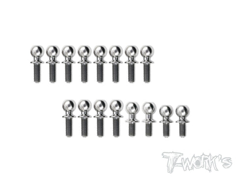 TP-078 64 Titanium Ball End Set For TEKNO EB410