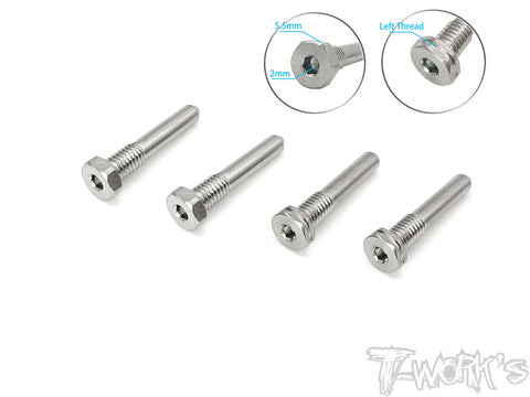TP-119-HB  64 Titanium  Screw Type Shock Pin Set ( For HB D819RS/819/817/E819/817 ) LT 2pcs. RT 2pcs.
