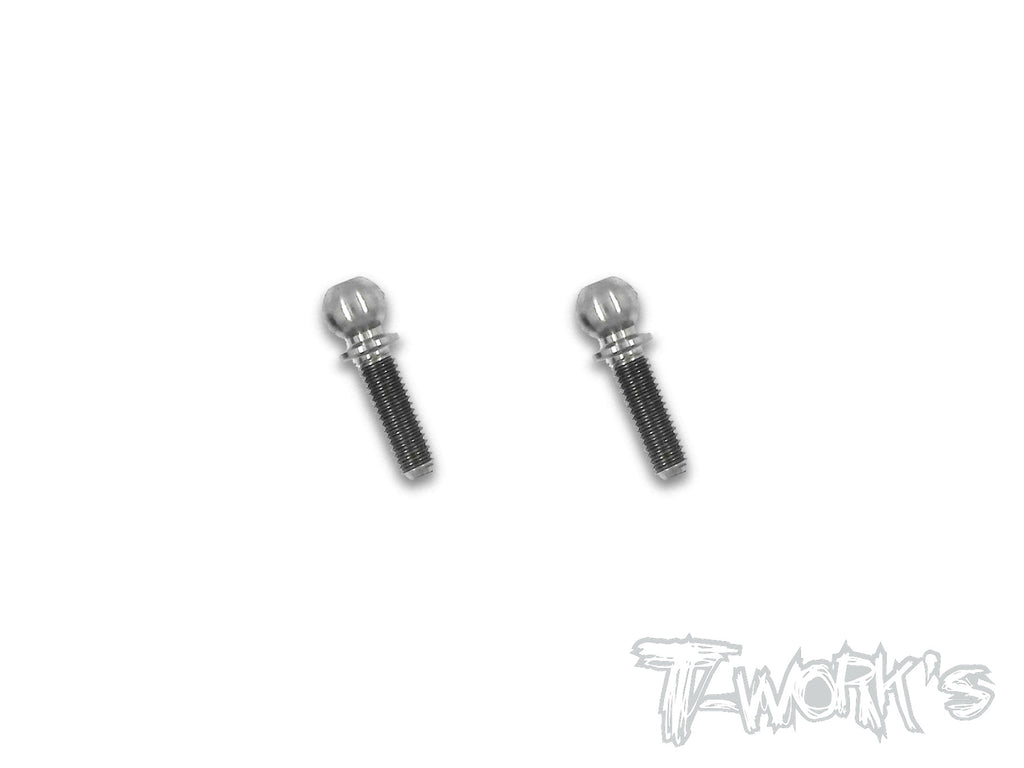 TP-Xray 64 Titanium 4.9x6/8/10mm  Ball End ( For Xray XB4,XB2,X1,XT2,XB8,GTX )2pcs.