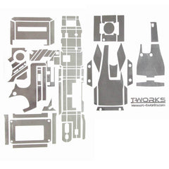 TS-023M Metal Chrome Radio Skin Sticker ( For KO EX-1 2012 ) 4 Colors
