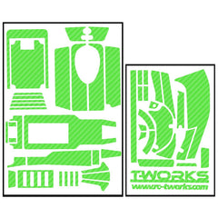 TS-027 3D Graphite Sticker  ( For SPEKTRUM DX4R ) 8Colors
