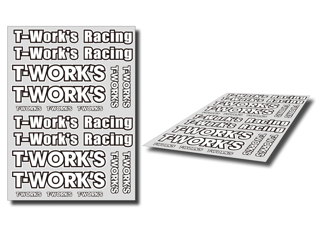 TS-039A  T-Work's Team White Decal A