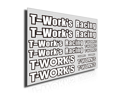 TS-039B  T-Work's Team White Decal B
