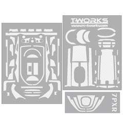 TS-040 3D Colors Graphite Sticker (For Futaba 7PX / 7PXR ) 6Colors