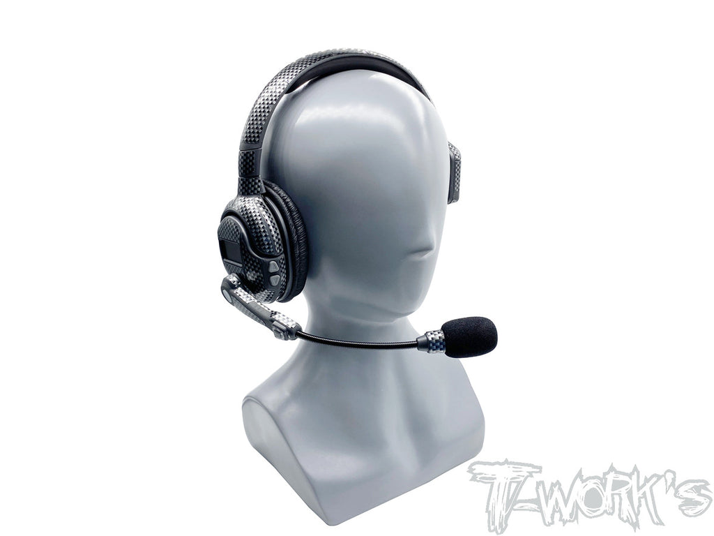 TS-055 Shiny Graphite Sticker (For Smartcom Headset) 2pcs.