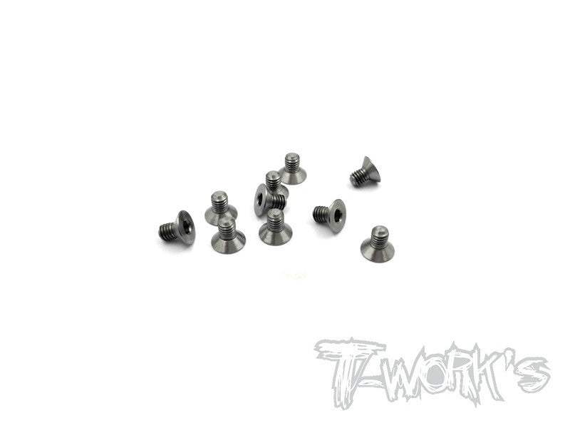 TSS-305C 3mm x 5mm 64 Titanium Hex. Countersink Screw 10pcs.