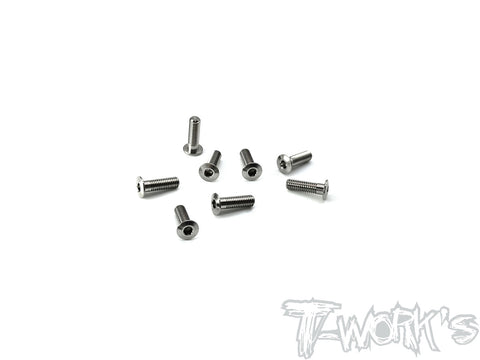 TSS-310LP 3mm x 10mm  Hex. Socket Head Low Profile Half Thread Screws(8pcs.)