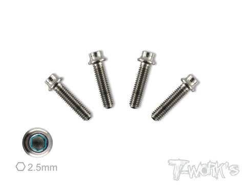TSS-H  M3.5 64 Titanium Hex. Socket Head Screw ( 4pcs. )