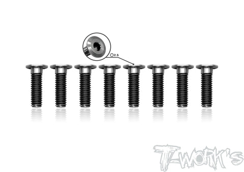 TSS-412LP 4mm x 12mm  Hex. Socket Head Low Profile Half Thread Screws(8pcs.)