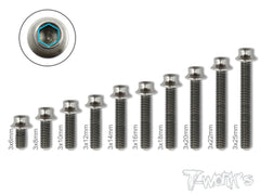 TSS-H  M3 64 Titanium Hex. Socket Head Screw ( 6pcs. )