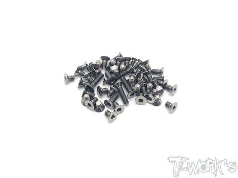 TSS-MTC2-B 64 Titanium Screw set ( Bottom )51pcs.( For Mugen MTC2 )