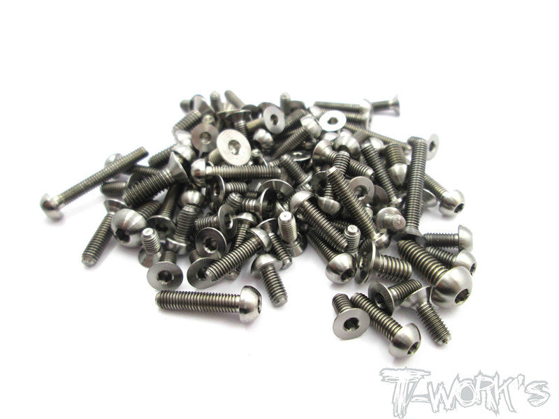 TSS-XB2  64 Titanium Screw set 110pcs.( For Xray XB2 )