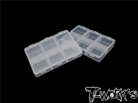 TT-047 6 Case Hardware Storage Boxes ( 8.2 x 6x 1.8cm ) 2pcs.