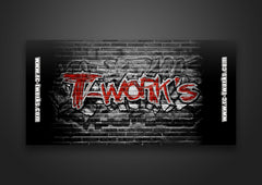 TT-048-A T-Work's Roll up Pit Mat 120 x 60 cm  With Carry Strap ( Graffito style )