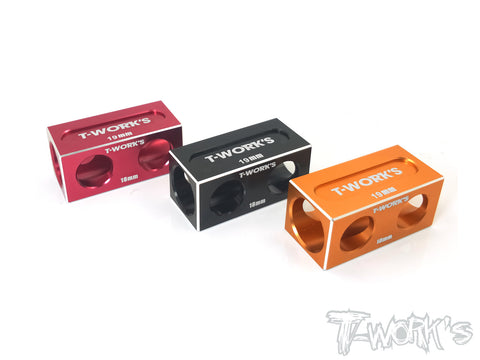 TT-050 18/19mm  Anti Tweak Block ( For Yokomo BD9 & Xray T4  )
