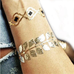 Gold tattoo, hand bracelet