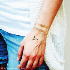 Gold metallic temporary tattoo gt11