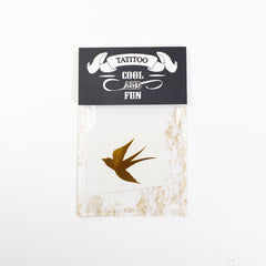swallow Gold metallic temporary tattoo gt13