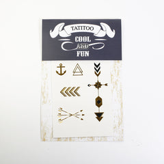 Gold metallic temporary tattoo gt16