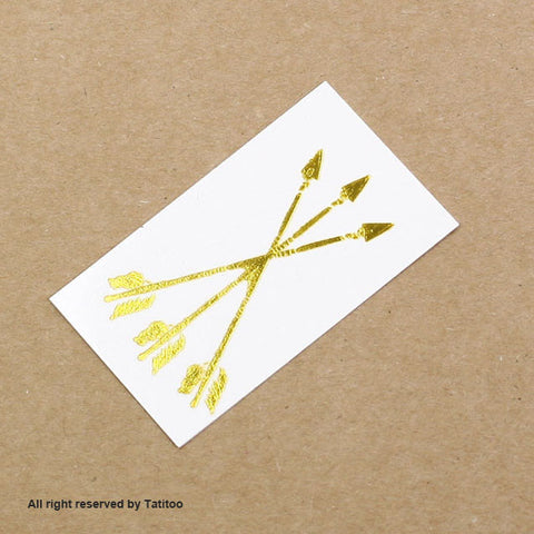 Arrow Gold metallic temporary tattoo gt14