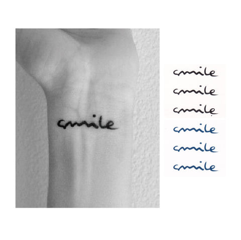 Smile , temporary tattoo