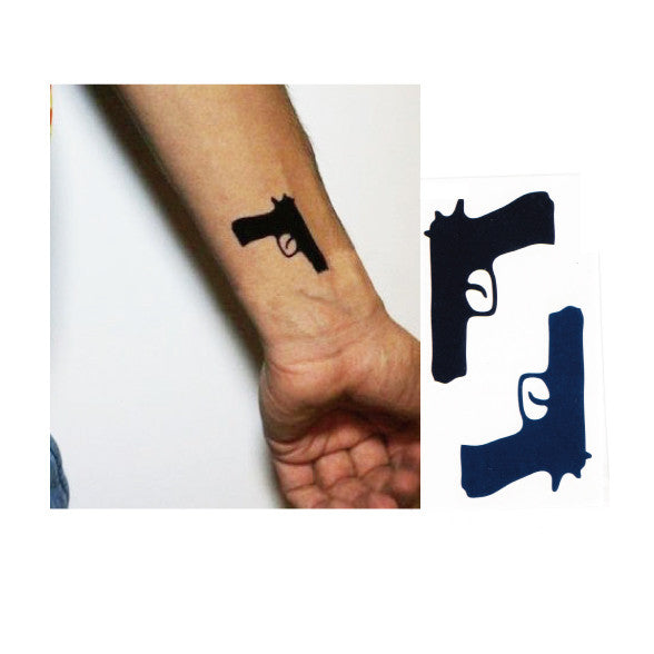 Gun Temporary Tattoo