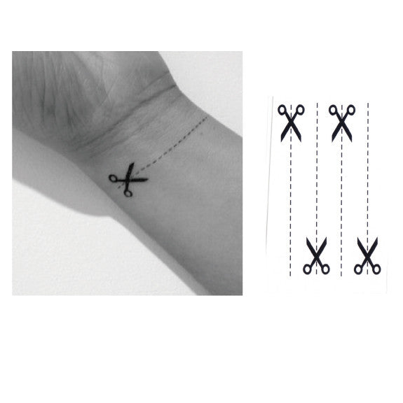 Scissor Temporary Tattoo