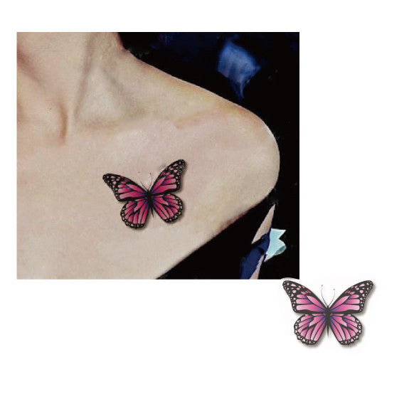 Butterfly 3D temporary tattoo