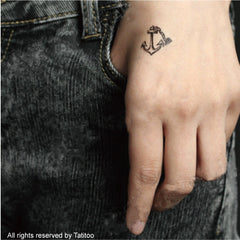 Anchor Tattoo, temporary tattoo