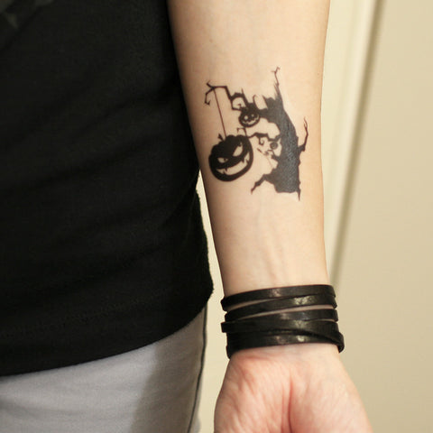 Halloween temporary tattoo, designed temporary tattoo, T265