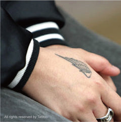Angel wings , temporary tattoo