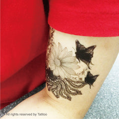 Butterfly , Floral , temporary tattoo,designed tattoo t280