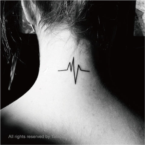 Heartbeat tattoo 2 pcs