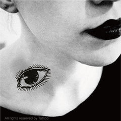 Eye temporary tattoo
