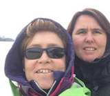 Malene Sogaard and Pep Kelly in the Arctic Circle