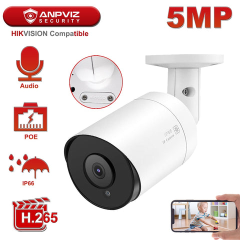 Hikvision 5MP Bullet IP Camera POE Outdoor/Indoor