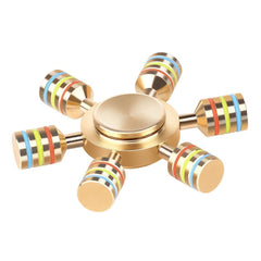 FIDGET SPINNER SIX METAL RAINBOW