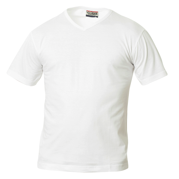 Clique - CLIQUE TSHIRT V WHITE - [product_collection], Pulssport.se
