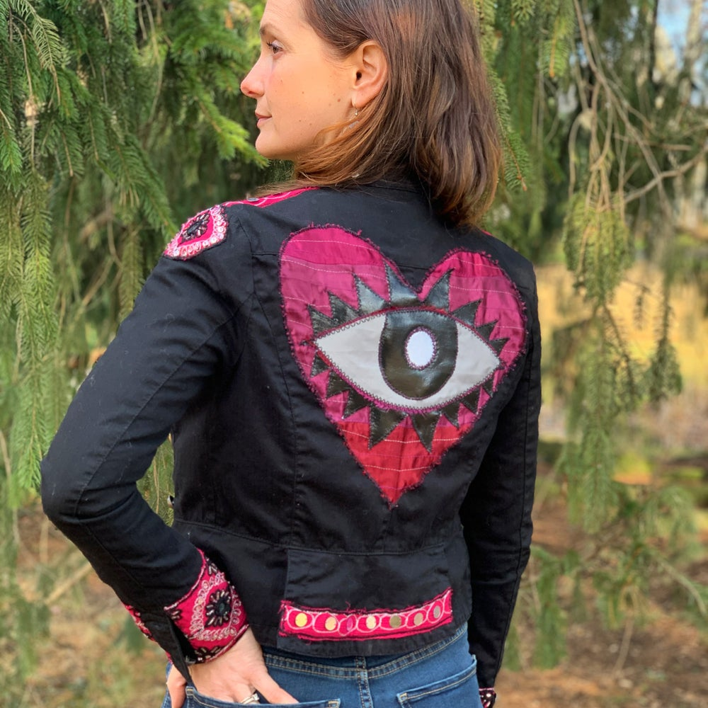Up-Cycled Evil Eye Jacket