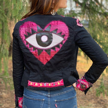 Load image into Gallery viewer, Up-Cycled Evil Eye Jacket