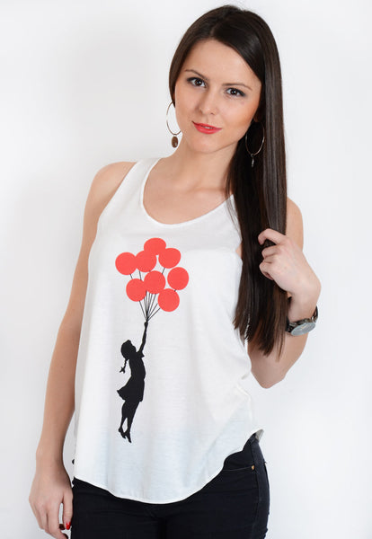 Banksy Balloon Vest Top